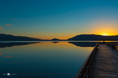 _D3L3984 (Alex Anabaln) Tags: landscape lago atardecer muelle paisaje puestadesol anochecer