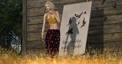 Make It Yours (Jamee Sandalwood - Miss V SWEDEN 2015) Tags: summer art fashion outside photography photo model artist photographer 500v20f canvas sl secondlife virtual blonde grasses pixels revamped artphotography fashionart fashionartphotography