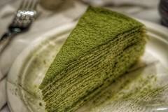 Green Tea Mille Crepe (Yabut_Ugly) Tags: nyc cake bakery plazahotel konica greentea foodcourt manualfocus ladym sonyalpha legacylens sonyalpha7 legacyglass sonya7 greenteamillecrepe snapseed ladymbakery plazahotelfoodcourt