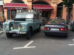 Land Rover Series III and Mercedes 190E (AndrewCarSpotter98) Tags: mercedesbenz landrover