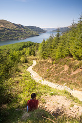 Mountain path (Joe Dunckley) Tags: uk sea mountain dan forest woodland landscape coast scotland highlands hiking path argyll inlet fjord hiker loch footpath arrochar westhighlands benarthur thecobbler lochlong scottishhighlands sealoch arrocharalps beinnartair