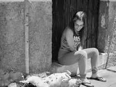 girl and her dog sunbathing (susodediego ) Tags: bw girl grancanaria streetphotography olympus bn canaryislands sunbathing femaledog autofocus thegalaxy tunte frameit simplysuperb gününeniyisi oletusfotos contactgroups vividstriking sigma30mmf28dnart infinitexposure em10markii