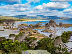 naomi160210-066 (Naomi Creek) Tags: trees mountains beach water clouds rocks tasmania remote unspoilt flindersisland sawyersbay