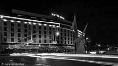 Hotel Nelva (Joaqun Snchez) Tags: longexposure night nikon murcia nikond3200 hotelnelva