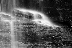 Waterfall Macro (tomcanon68) Tags: blackandwhite bw water monochrome canon waterfall canon100mmmacro bushkillfalls canon40d canon100mm28ismacro
