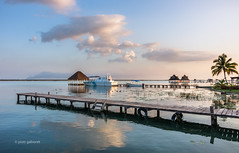 A Place To Be (pietkagab) Tags: bacalar laguna sunset water lake sky mexico yucatan pier pietkagab piotrgaborek photography pentaxk5ii pentax travel trip sightseeing adventure nature