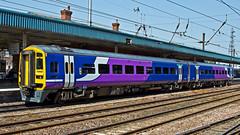 158855 (JOHN BRACE) Tags: york trains class 1992 northern seen derby built 158 livery dmu brel 158855