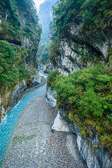 Taiwan-121116-418 (Kelly Cheng) Tags: travel color colour green tourism nature water vertical river landscape daylight colorful asia day outdoor taiwan nobody nopeople canyon colourful tarokonationalpark tarokogorge  traveldestinations  northeastasia