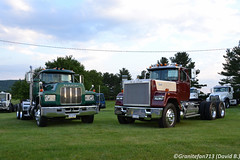 1989 Mack R688ST & RW613 (Trucks, Buses, & Trains by granitefan713) Tags: mack macktruck macungie atca antiquetruck classictruck oldschool vintagemack tractor trucktractor daycab nonsleeper mackrmodel mackr688st mackr600 mackrw613 rw613 superliner