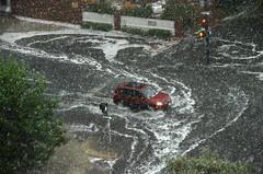 Downtown Denver Thunderstorm (photographyguy) Tags: denver colorado uptowndenver street flooding rain thunderstorm water weather oneway warwickhotel grantst storm raindrops trafficlight