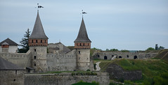 Old Castle. 12-18 entury. (intui.pro) Tags: old plant tower history tourism stone museum architecture landscape town ruins outdoor stones citadel stonework text towers reserve ukraine temples walls bastion stronghold fortress palaces fastness strengthening kamianetspodilskyi