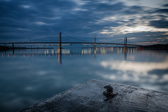 road bridges (D Cation) Tags: scotland southqueensferry firthofforth forthroadbridge queensferrycrossing construction twilight still reflections gloaming