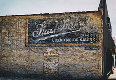 Studebaker Fade (Pete Zarria) Tags: illinois studebaker auto car sign ghost brick wall oldtimes nostalgia classic urbanamerica cicero