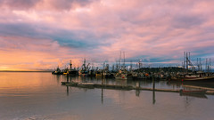 Neah Bay Sunset (J*Phillips) Tags: ocean sea sky color clouds port marina docks landscape boats washington fishing backgrounds drama