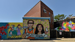 Lady Pink Tribute (Eddie C3) Tags: ladypink sandrafabara streetart wallmurals nyc wellingcourtmuralproject astoriaqueens queens newyorkcity arasolart streetscenes tribute
