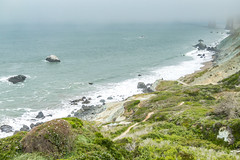 Rocky Marshall's Beach (Serendigity) Tags: mist california usa fog sanfrancisco coast surf
