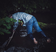 Thrown Upon The Trees, Looking At The Last Fight [III] (Elliot Tratt) Tags: boy portrait tree green art me boys wet water weather portraits canon river myself eos death blood branch flag fine pride 5d concept bleeding conceptual bleed dying concepts 2016 i 5dm2 5dmark2