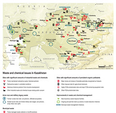 Waste and chemical issues in Kazakhstan (Zoï Environment Network) Tags: test industry toxic ecology site asia action map military nuclear problem soil management pollution area uranium environment radioactive rocket geography waste agriculture pcb centralasia kazakhstan region chemicals issue hazardous almaty landfill territory astana initiative pavlodar pesticides petropavlovsk pollutant shymkent aktau taraz ustkamenogorsk wasteandchemicalsincentralasia