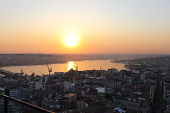 At the top of the Galata Tower in Istanbul (bangbangb00gie) Tags: turkey golden istanbul lovers horn bosphorus galata karaky kulesi turris christea beyolutaksimgoldenhorn
