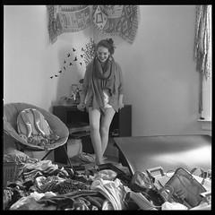 Breanna (Molly Castle) Tags: film silver print bedroom interior young indoor personality teenager environment enviroment
