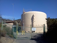 Went off the trail to find an overlook (cmrowell) Tags: california watertank venturacounty razorwire newburypark conejovalley flickrandroidapp:filter=none losroblestrailwest