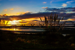 Waldport Sunset (ZLBlackwood) Tags: bridge sunset beach clouds oregon bay coast waldport