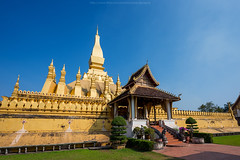 Wat Thatluang 4 (Santi Sukarnjanaprai) Tags: travel art architecture temple asia place buddhist sight laos wat vientiane thatluang