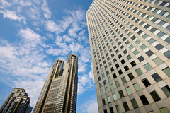 Gatekeepers of Shinjuku (Ayrcan) Tags: city urban japan tokyo shinjuku asia skyscrapers towers government metropolis honshu