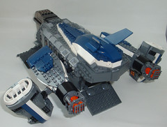 Dragonfly Dropship (Jayfourke) Tags: lego space military future spaceship vtol