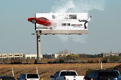 Billboard Concept (ben.bibikov) Tags: sign cowboy smoke tire rope ferrari billboard burning concept tame