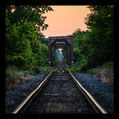 DowntheTracks (MRWImages) Tags: old sunset ontario london train evening nikon steel tracks rusted squarecrop d7000