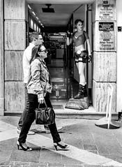 dont worry she is wachting the streets ( sefito) Tags: street bw blancoynegro calle strada streetphotography malta rua rue nokton nokton40mm14 fotografiacallejera fujixe1