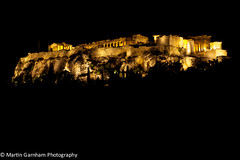 The Acropolis of Athens at night. (Garnham Photography) Tags: old art history classic tourism archaeology monument rock stone architecture night greek temple evening ancient ruins theater place famous hill ruin scenic cities culture hellas landmark athens structure historic unesco parthenon greece historical classical column acropolis past athena archeology attraction touristattractions touristic attica greektemple destinations akropolis hellenic traveldestinations philopappos filopappos