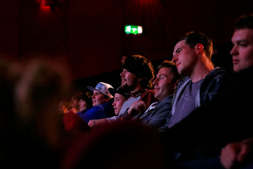 Audience members at the screening of The Great Hip Hop Hoax film.