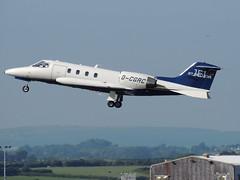 D-CGRC Learjet 35A (B Gibbens) Tags: nikon takeoff departing learjet 35a cardiffairport rhoose cwl learjet35a p510 nikonp510 jetexecutive dcgrc