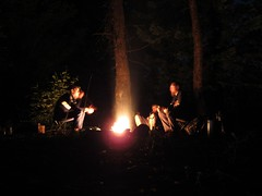 Camp (joeball) Tags: camping white west night river stars fork moonlight s90