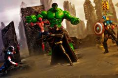dc vs marvel (PhotoRobo Rod) Tags: 50mm dc fight nikon spiderman batman hulk marvel captainamerica darkknight avengers
