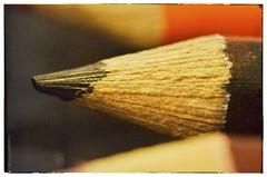 Macro Pencils (Spacemonkey1999) Tags: closeup pencilbox blackpencil rikenon1250mm nikond5100 snapseed flickrandroidapp:filter=none fotodioxm42infinity httpwwwredbubblecompeoplespacemonkey1999