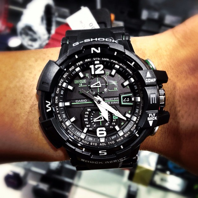 watch aviator gshock uploaded:by=flickrmobile flickriosapp:filter=nofilter gwa11001a3jf gwa1100