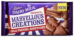Cadbury Dairy Milk Marvellous Creations Cola Pretzel Honeycomb (FoodBev Photos) Tags: food purple candy cola chocolate cadbury pretzels honeycomb confectionery dairymilk marvellouscreations mondelezinternational