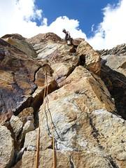 Schmetterling, Dri Hornli (andywalker1) Tags: alps alpine rockclimbing onearm wallis andrewwalker handicapped valais schmetterling andywalker alpineclimbing onearmed drihornli almagellerhutte plaisirwest schweizplaisir