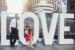 LOVE (ben-shepherd) Tags: street wedding portrait love water fountain sign pose engagement couple place martin sydney posing marriage australia pre