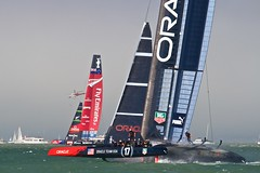 America's Cup 7 (NathanF) Tags: sanfrancisco newzealand fog sailboat bay oracle sailing kiwi americascup 2013