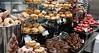 Donut Buffet Setup (David H. Chow - Pastry Chef) Tags: table dessert maple strawberry sweet filled hibiscus donut doughnut vanilla buffet chocolatedipped hazelnut glazed rolled sprinkle bostoncream