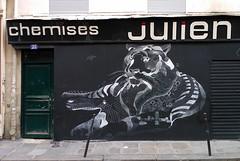 Paris 2013 (Hanoi1933) Tags: street paris art wall store magasin tiger streetphotography front boutique storefront tigre vitrine devanture 2013