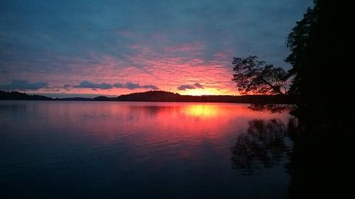 Beautiful sunset over Paarlahti