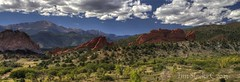 GARDEN OF THE GODS PANORAMA (MERLIN08, 1.3Mviews) Tags: usa landscape iso100 colorado raw pano tripod gardenofthegods coloradosprings polarizer f11 pikespeak 39mm topazadjust tamronsp1750vc28 elements9 canont4i photomatix43 vision:mountain=087 hdri3xp2ev