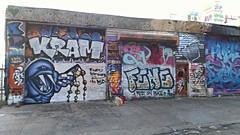 FENE by Numb at 5 Pointz (DSINDELIBLE) Tags: flickrandroidapp:filter=none nyc graf graffiti 5points 5ptz steel door fene rip kram character street art piece fill ins 5pointz