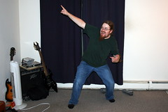 Geoff Demonstrating Ancient Scottish Ritual Thanksgiving Dance_9071 (Bobolink) Tags: out table geoff ad setting