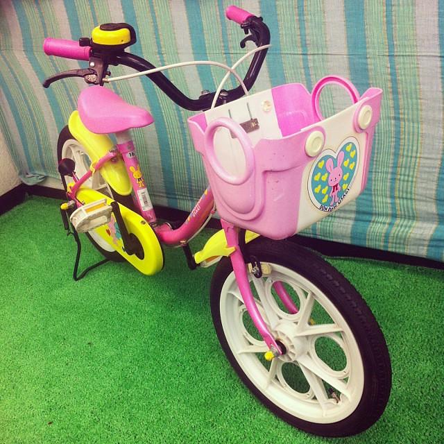 こんなウサちゃん中古車も作ってみました! #eirin #16 #used #kids #子供自転車 #ピンク